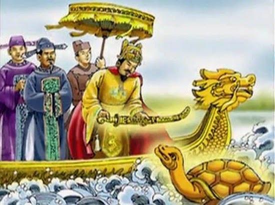 """Truyền thuyết về hồ gươm, rùa """"thần"""" và thanh kiếm """"thuận thiên"""""""