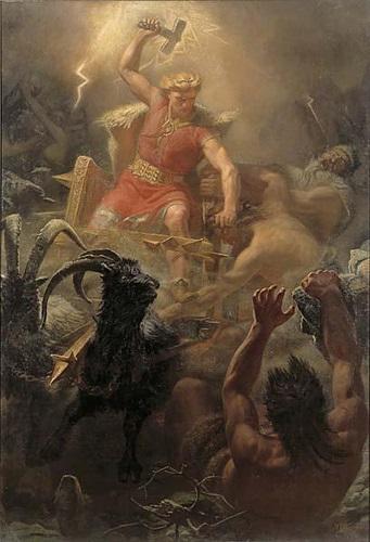 Thần sấm Thor và sự tích chiếc búa Miollnir