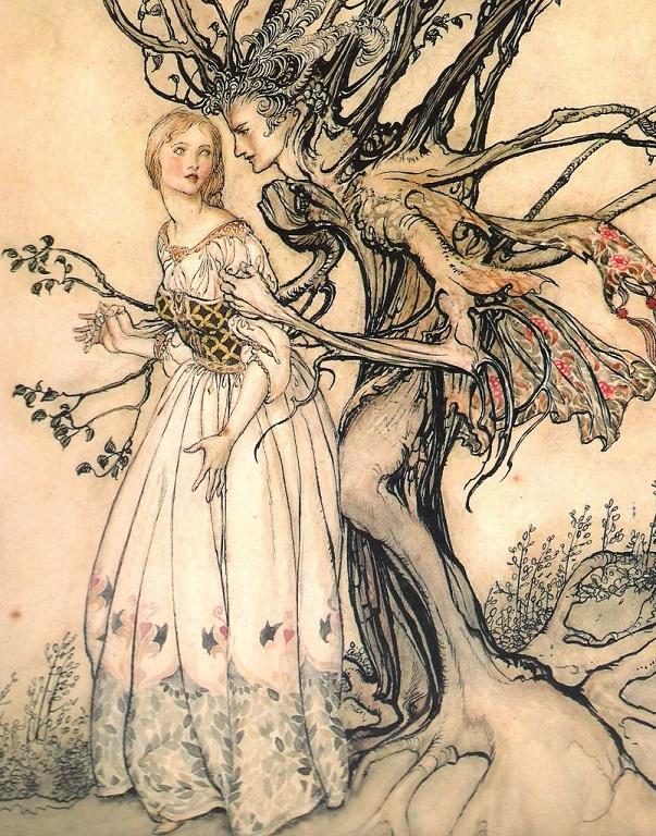 Bà già ở trong rừng