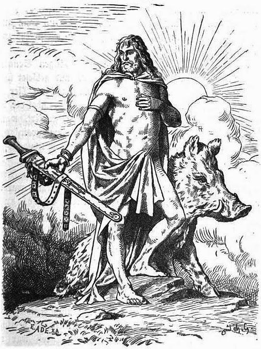 Truyện thần Frey với người đẹp khổng lồ Gerd