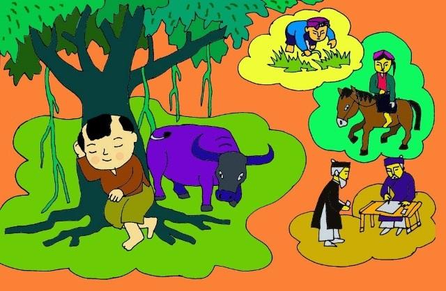 Sự tích cây đa và cây mít