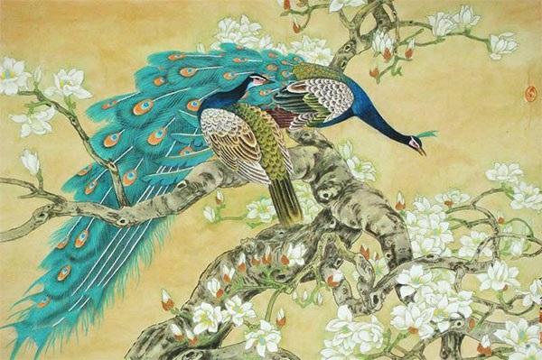 Chim công và họa mi