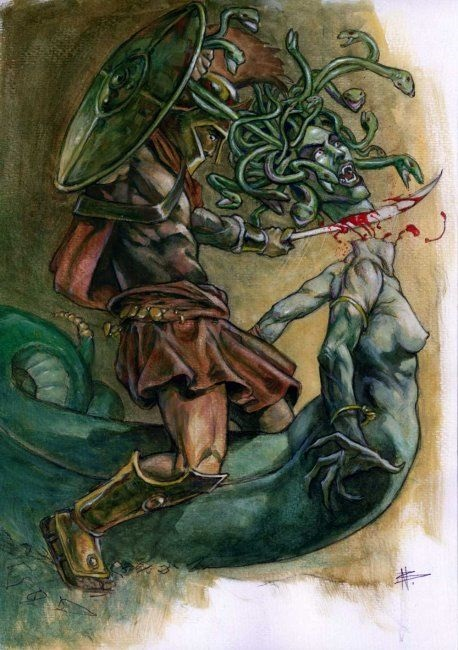 Persée giết ác quỷ Méduse