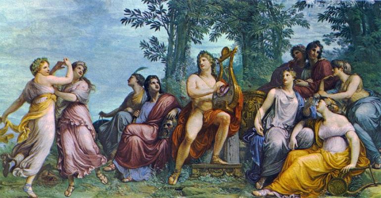 Apollon và các nàng Muses