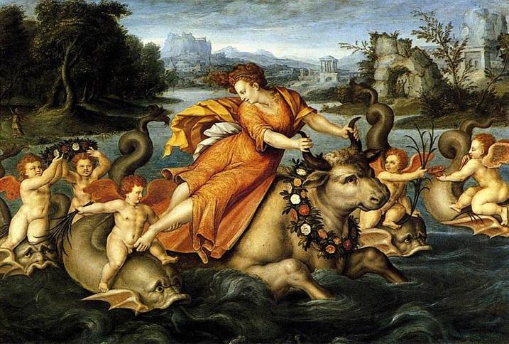 Mối tình của Zeus với nàng Europe