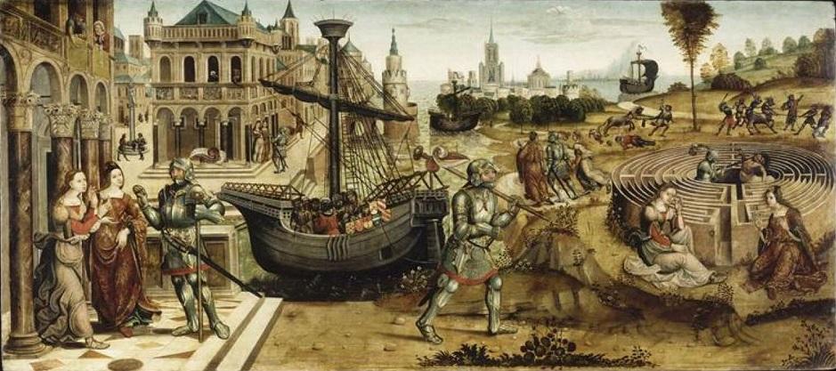 Dédale và Icare thoát khỏi cung điện Labyrinthe