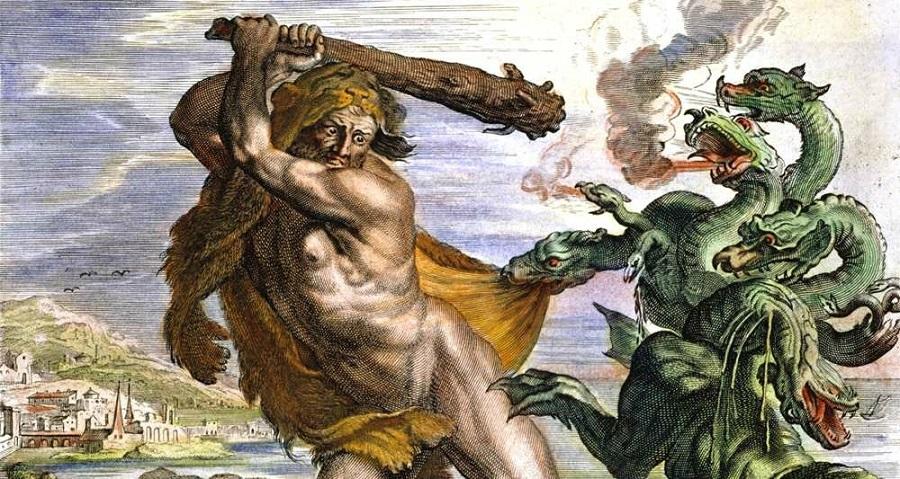 Giết con mãng xà Hydre ở Lerne