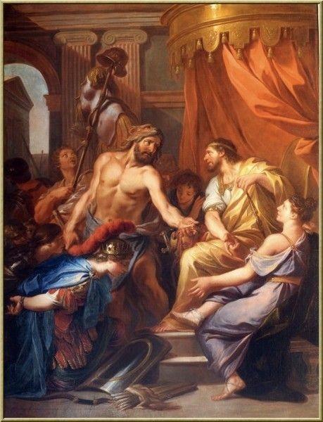 Nữ thần Héra tìm cách giết chú bé Héraclès