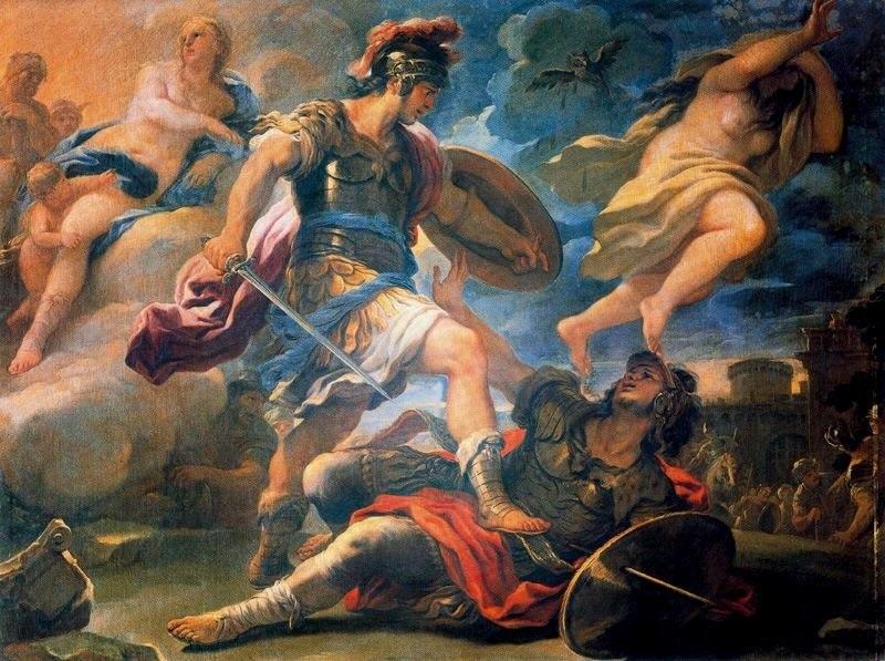 Achille xuất trận đánh đuổi quân Troie phải chạy về thành