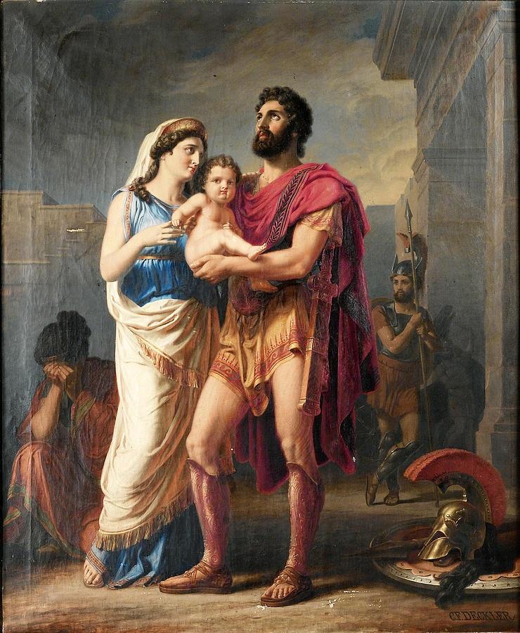 Hector từ giã Andromaque trước khi xuất trận