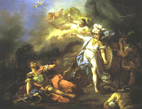 Quân Hy Lạp tấn công. Chiến công của tướng Diomède