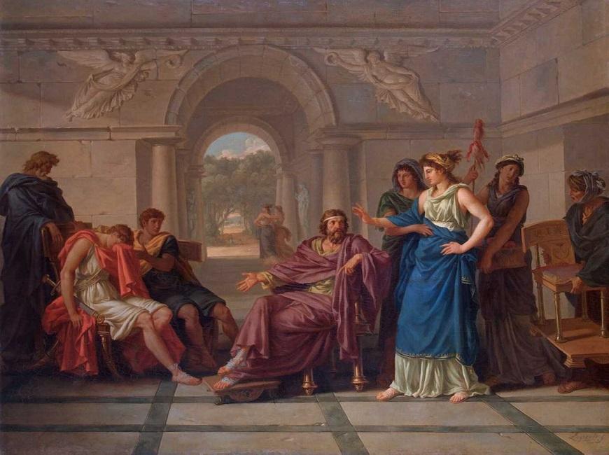 Télémaque tới Pylos