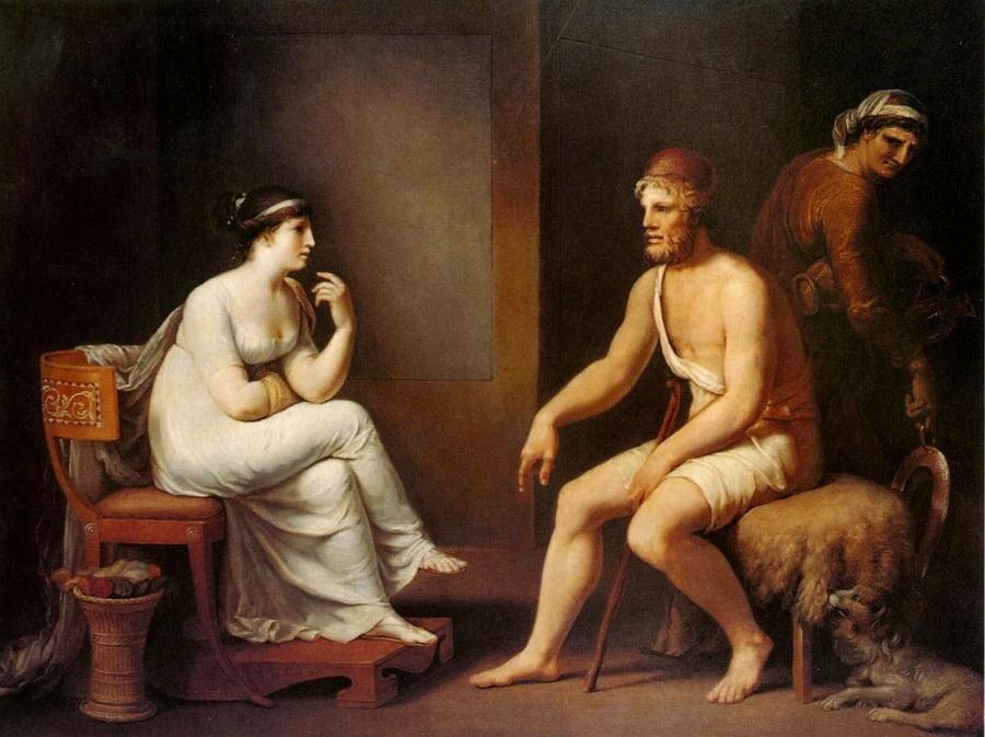 Pénélope nhận ra chồng