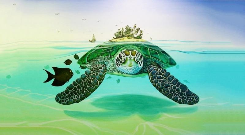 Cua, rùa, cá đuối hay con sam