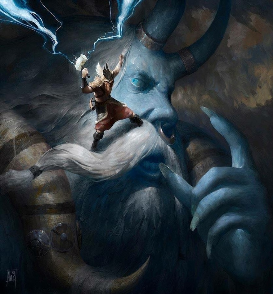 Thor đại chiến gã khổng lồ Hrungnir