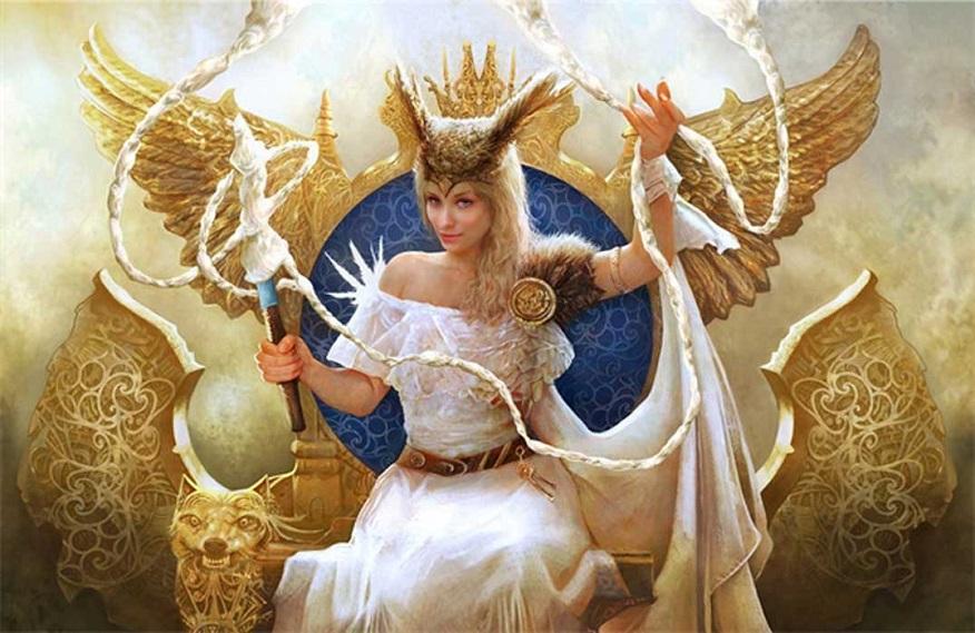 Hoàng hậu Frigg - nữ thần hôn nhân