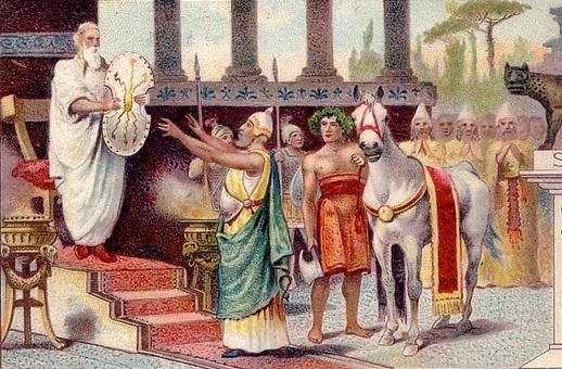 Ancile - báu vật của thành Rome - tấm khiên của Mard