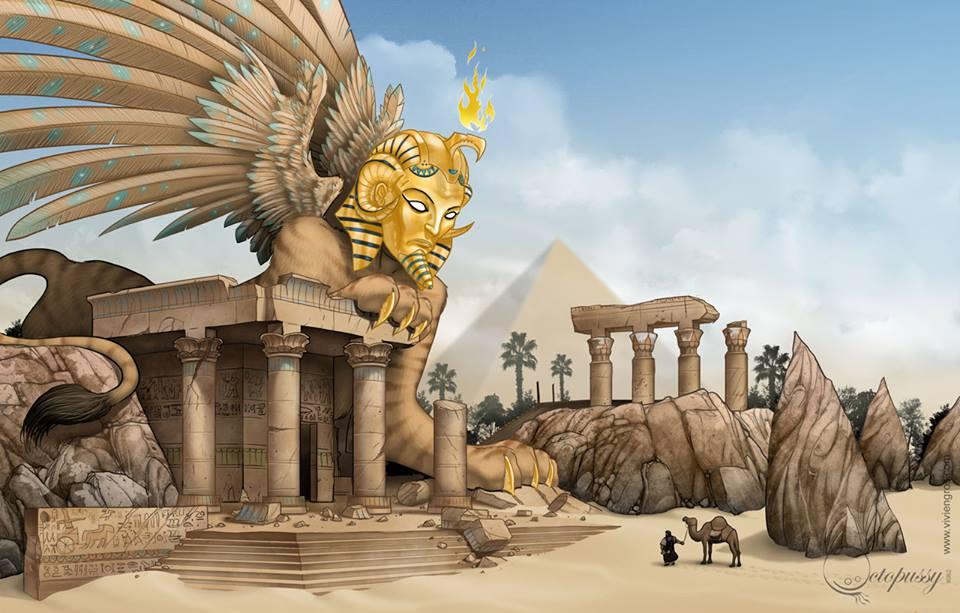 Hoàng tử Thutmose và nhân sư