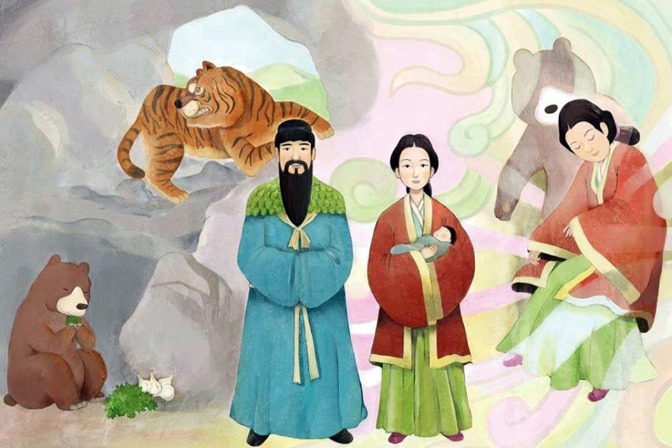 Huyền thoại Dangun lập quốc Gojoseon (nhà nước Cổ Triều Tiên)