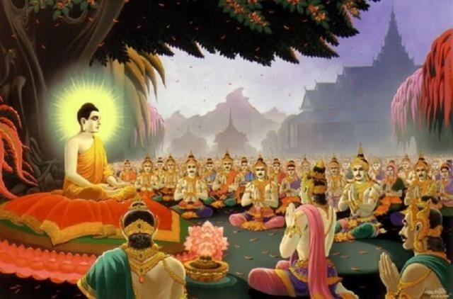 Phật dạy vua Thắng Quang làm chính trị