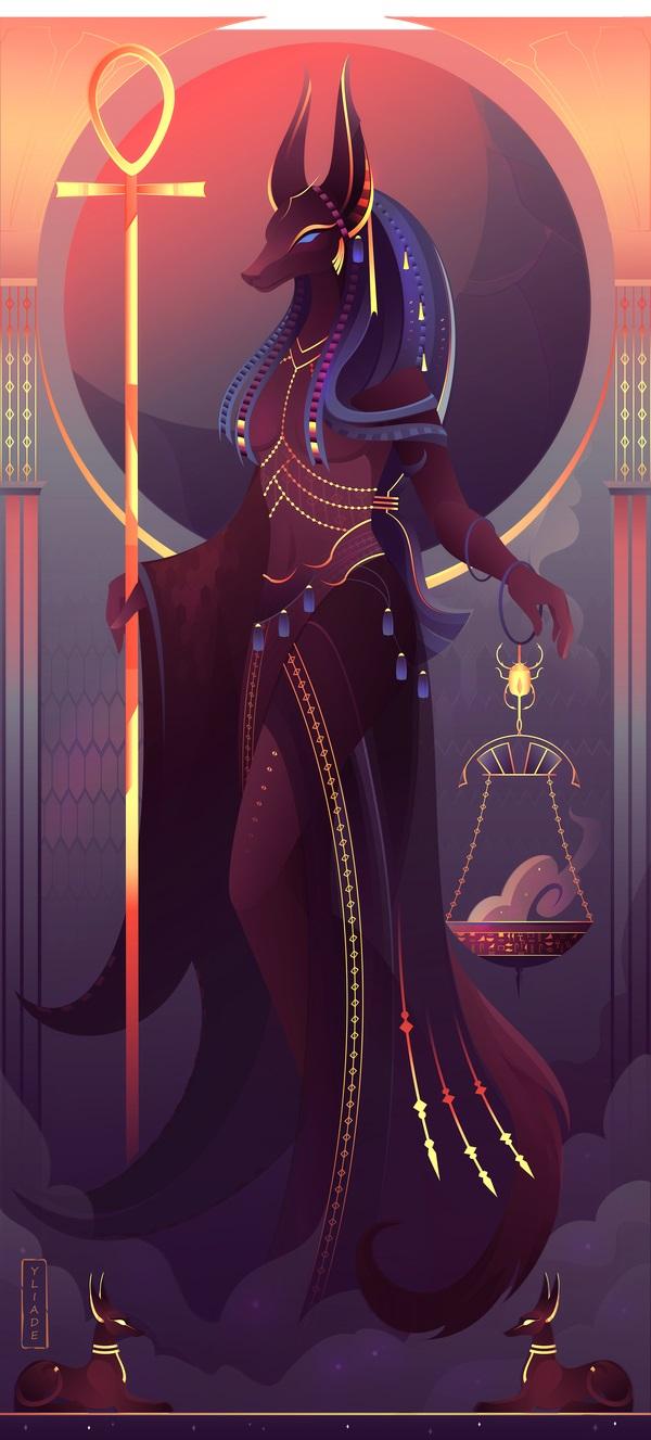 Nữ thần Anput - vợ Anubis