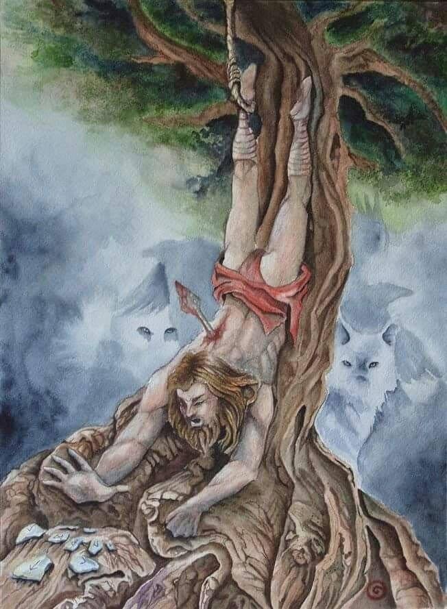 Thần Odinn tìm ra ký tự Runes