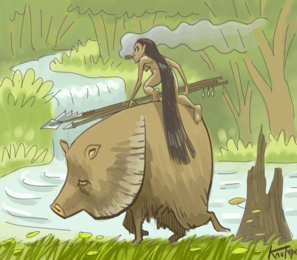 Caipora - Sinh vật bảo vệ muôn thú