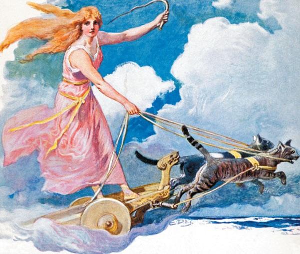 Freya - nữ thần tình yêu và sắc đẹp
