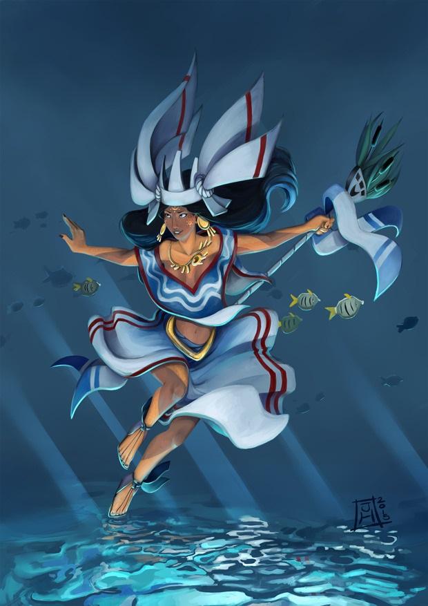 Huixtocihuatl nữ thần nước mặn và muối