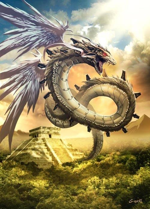 Thần Quetzacoatl - điểu xà thần