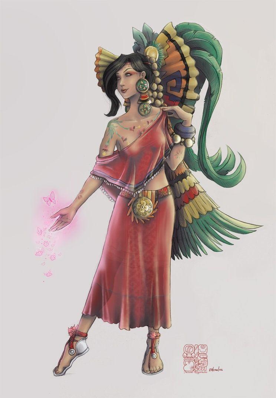 Nữ thần của tình yêu và hoa cỏ Xochiquetzal