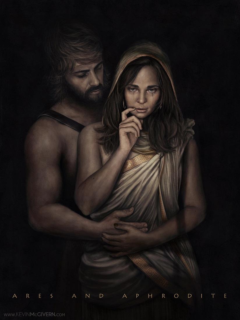 Tình yêu của Ares và Aphrodite