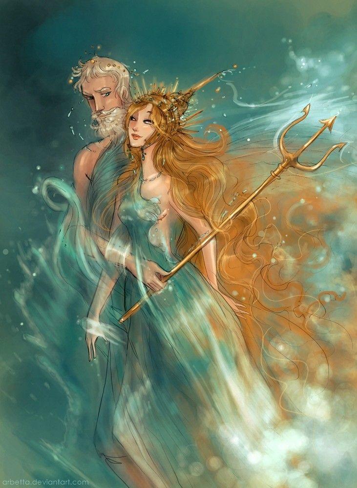 Chuyện tình giữa Amphitrite và thần Poseidon