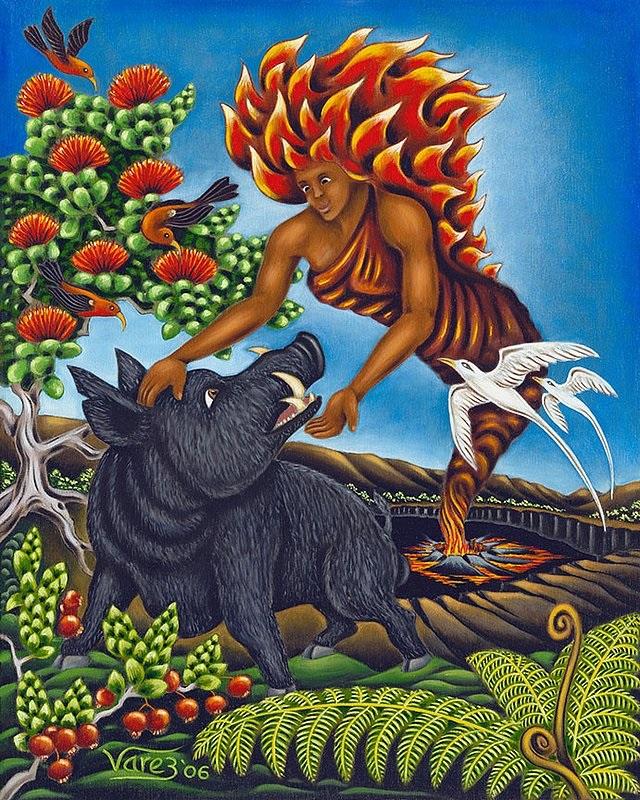 Chuyện tình của chiến binh lợn lòi Kamapua'a và nữ thần núi lửa Pele