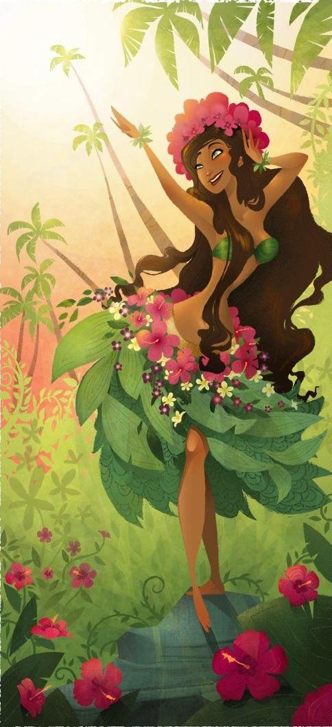 Nữ thần Laka của Hawaii