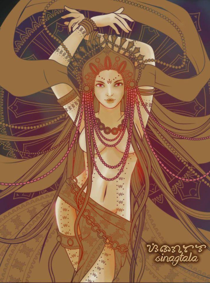 Nũ thần sắc đẹp và sự quyến rũ Nagmalitong Yawa SinagMaling Diwata