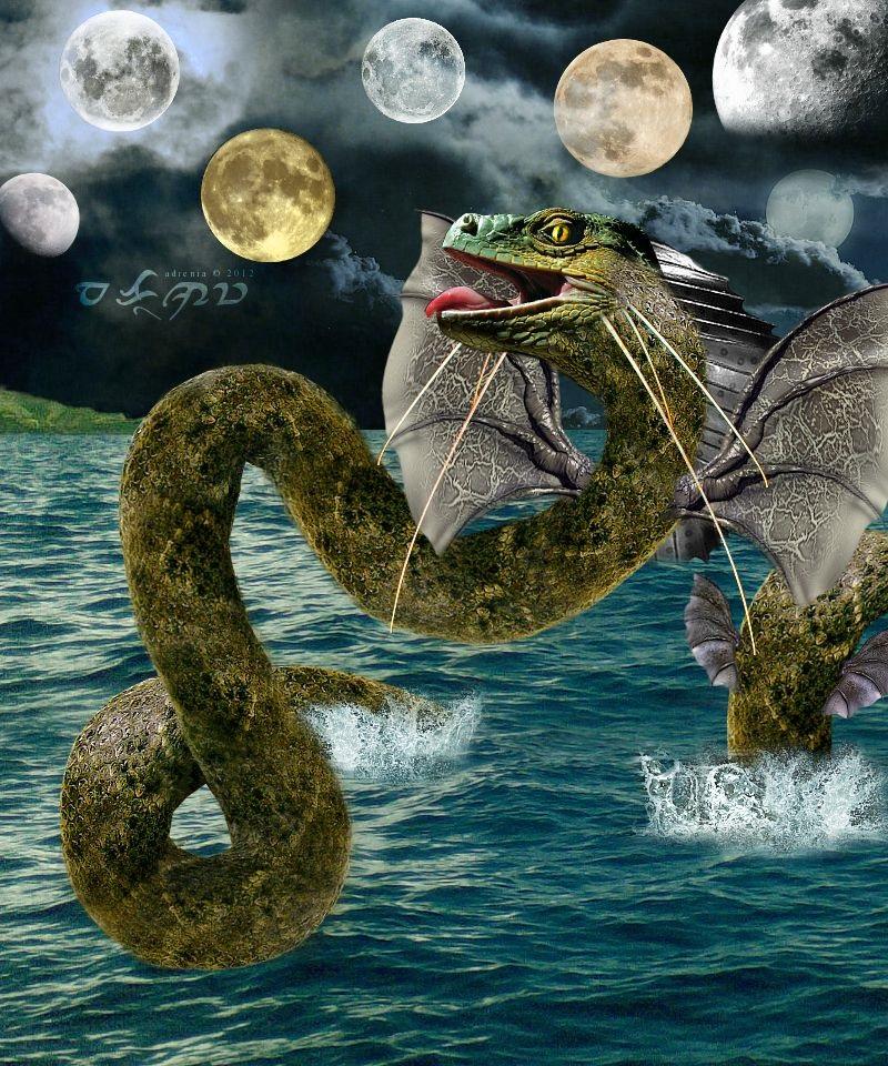Thủy quái khổng lồ - rồng Bakunawa