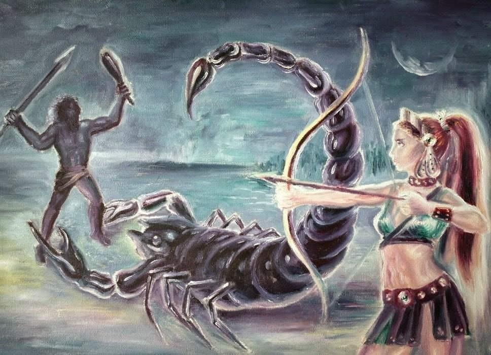 Sự tích chòm sao Orion và chòm sao bọ cạp hay chuyện tình Orion và nữ thần Artemis