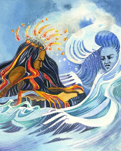 Namaka - nữ thần của biển khơi, chị gái của nữ thần núi lửa Pele