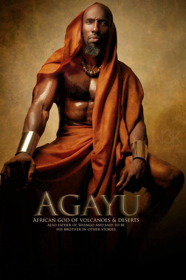 Agayu - Thần Núi lửa và là chồng của nữ thần Yemoja