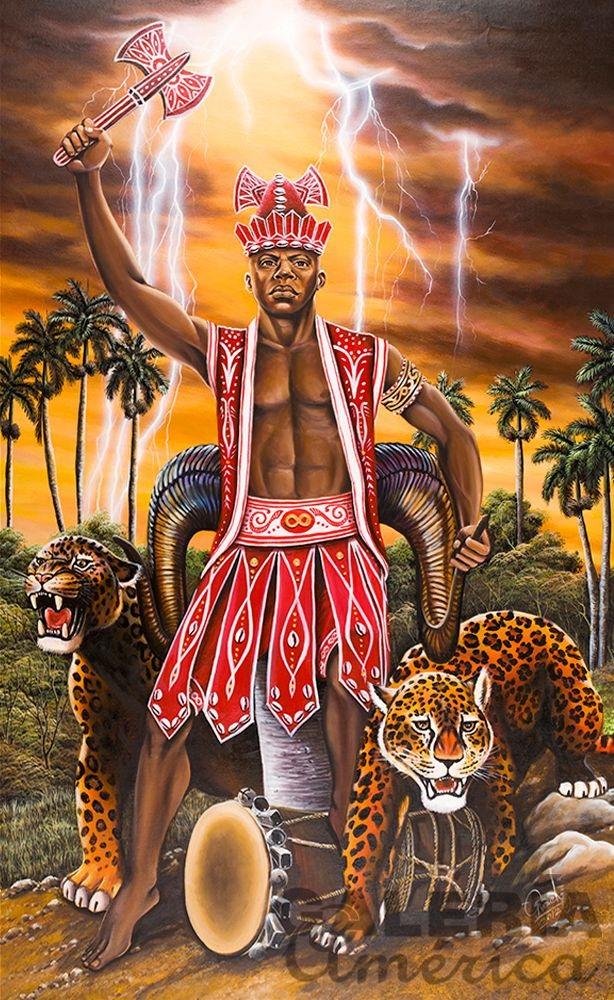Vị thần sấm sét Shango của Yoruba