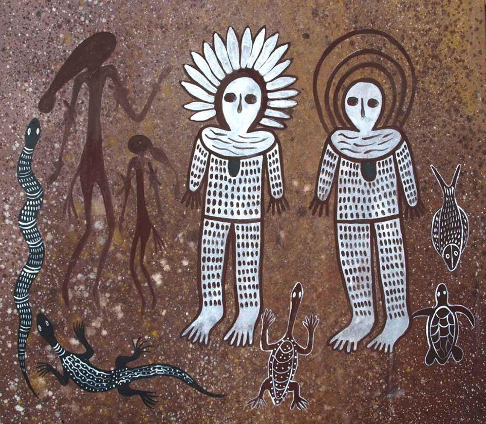 Những linh thần tổ tiên Wandjina của thổ dân Úc