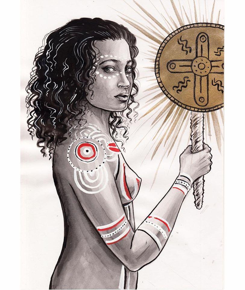 Nữ thần mặt trời Gnowee của thổ dân Úc