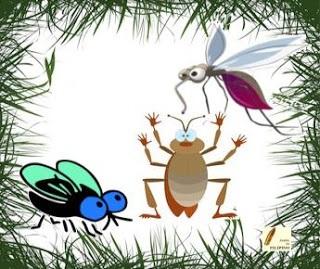 Sự tích con ruồi, gián và muỗi