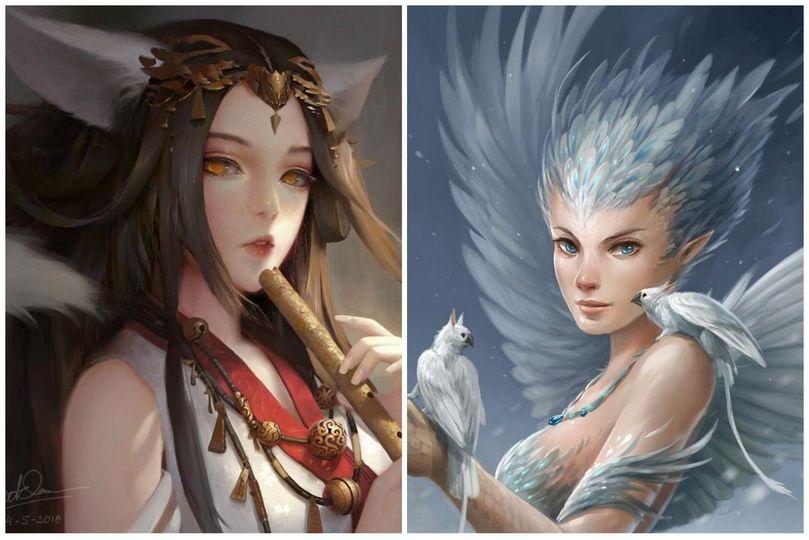Cửu Vĩ Tiên Nương và Phấn Nhĩ Quỷ Vương Thần Nữ