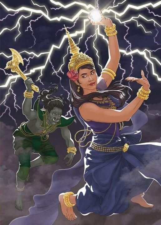 Truyền thuyết về sấm sét của Thái Lan hay chuyện Mekla và Ramasura