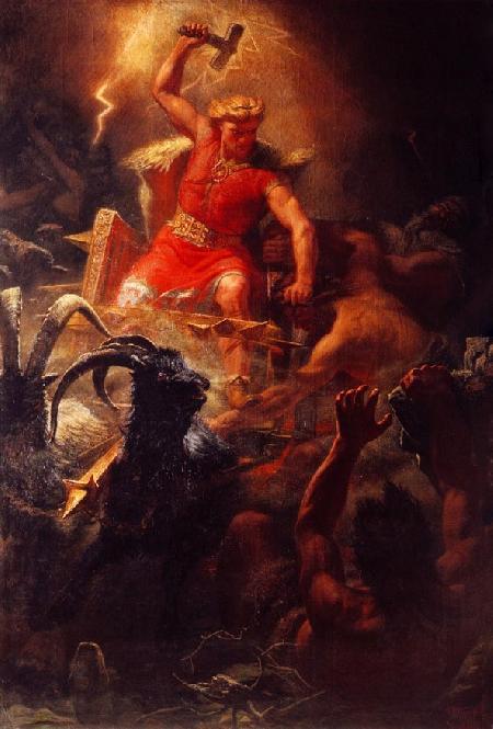 Thor lấy lại cây búa sét Mjollnir từ Thrymr