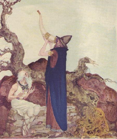 Odin đi tới suối nguồn MIimir