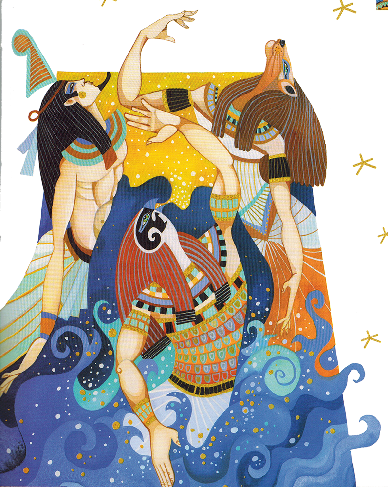 Nữ Thần Tefnut & Thần Shu