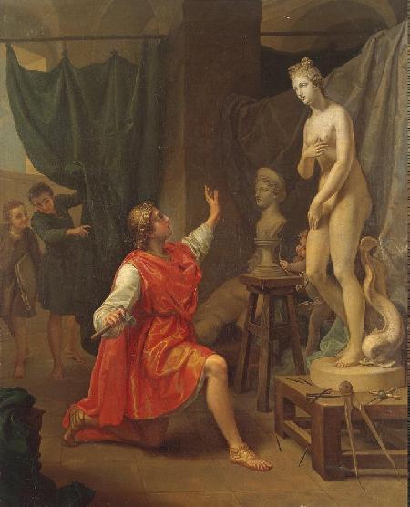 Aphrodite ban phúc cho Pygmalion